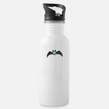 Crypt small caroont comic bat for gothic lovers - Water Bottle