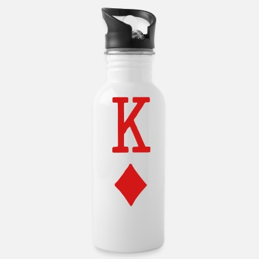 Playing Card King Of Diamonds - Sleeve - Water Bottle