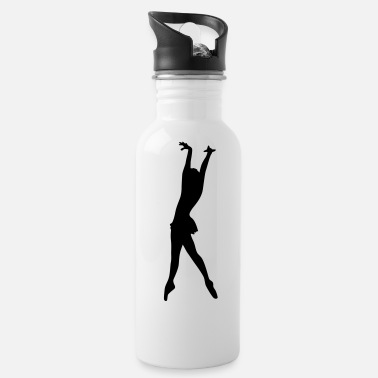Ballerina Vector Ballet dancer Silhouette - Water Bottle
