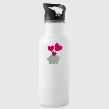 Piggy Bank With Heart - Water Bottle