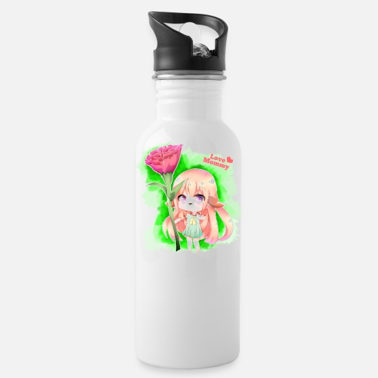 Mother Mugs & Drinkware - Happy Mother's Day Furry Girl - Water Bottle white
