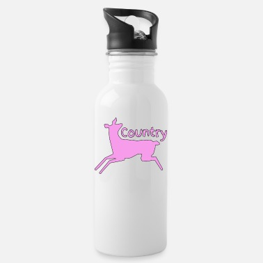 Country Girl Country ( Pink Country ) - Water Bottle