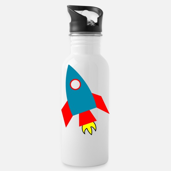 Nasa Mugs & Drinkware - rakete rocket space shuttle ufo raumschiff mond mo - Water Bottle white