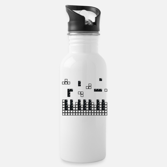 Keyboard Mugs & Drinkware - Hit the Brick Piano Keys - Water Bottle white