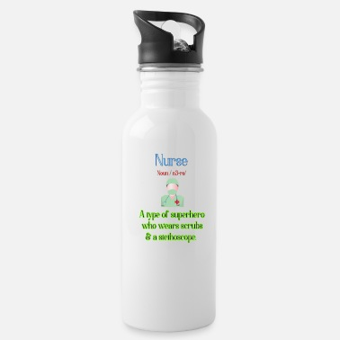 Nurse - a type of superhero - Water Bottle