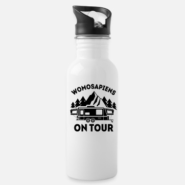 Trip Womosapiens on Tour Camping RV gift - Water Bottle