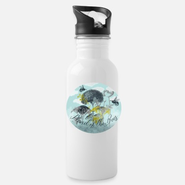 Vintage Planet of the Vintage Bees - Water Bottle