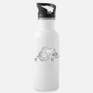 Friendship Sweet Elephant Tiny Bunny Friendship Swing - Water Bottle