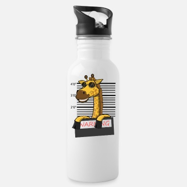 Giraffe Mugshot - Water Bottle