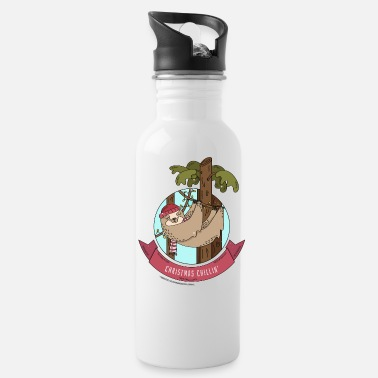 Christmas Chillin' | Funny Holiday Sloth - Water Bottle