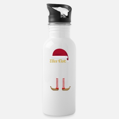 Nice List - Customizable Text | Christmas - Water Bottle