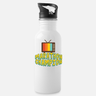Watch Tv Funny TV Marathon Binge Watching - Water Bottle