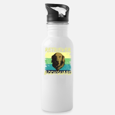 Retriever Retriever Bodyguard, Golden Retriever - Water Bottle