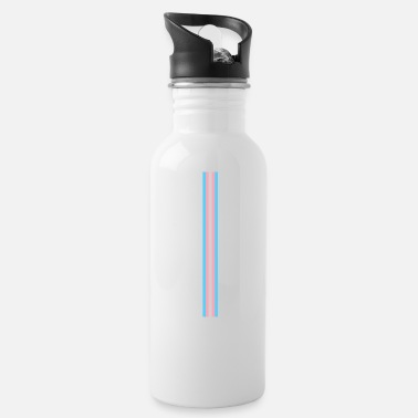 Us Gay Pride LGBT Transgender Long Stripe Flag - Water Bottle