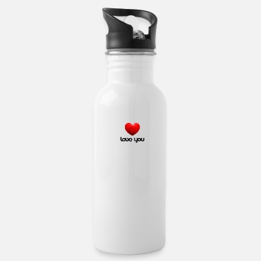 love you valentine's day marriage couple - Water Bottle