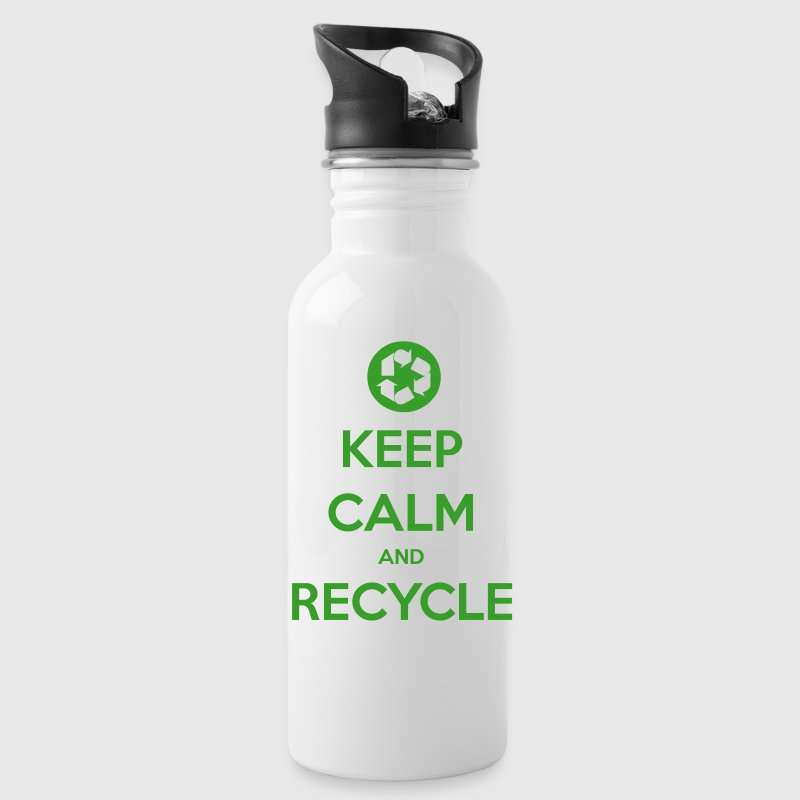 Keep Calm and Recycle - Water Bottle
