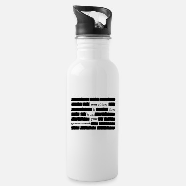 Conspiracy conspiracy theory trust your government funny gift - Water Bottle