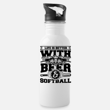 Your Mom Softball Player Coach Fan Funny Quotes - Water Bottle