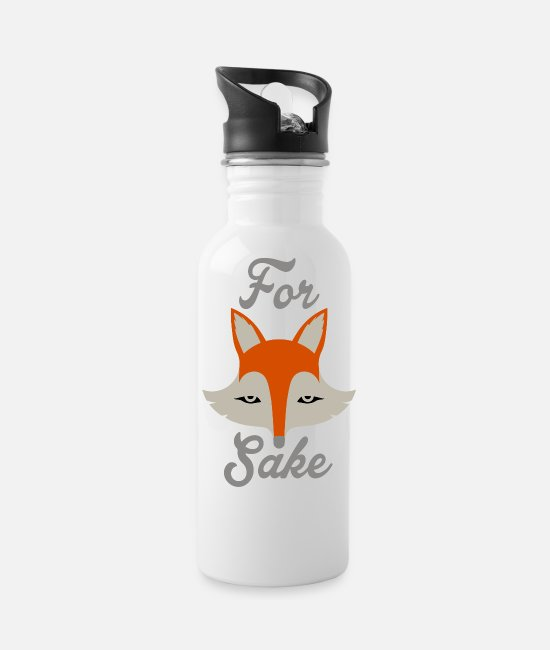 Quote Mugs & Cups - For Fox Sake - Water Bottle white