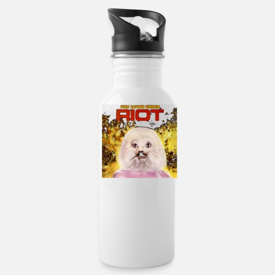 Riot Mugs & Drinkware - Riot Band Fire Down Under - Water Bottle white