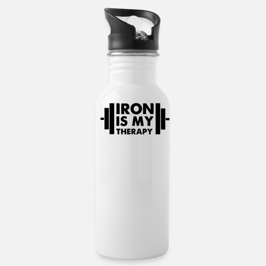 Love Mugs & Drinkware - Iron is My Therapy - Water Bottle white