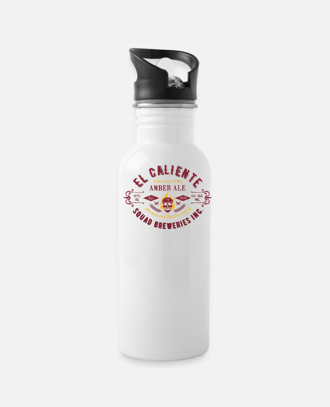 Brewery Mugs & Cups - El Caliente Squad Breweries - Water Bottle white