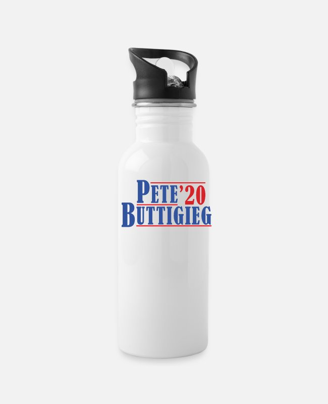 Presidential Election Mugs & Cups - Pete Buttigieg Vote 2020 - Water Bottle white