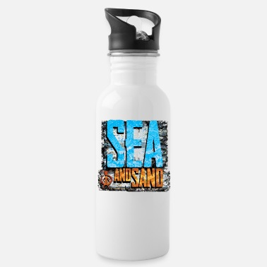 Sand sea and sand - Water Bottle