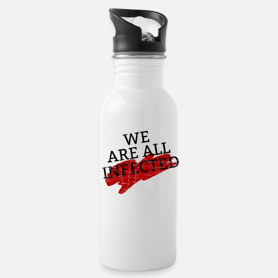 Zombie Apocalypse Mugs & Drinkware - We Are All Infected - Water Bottle white