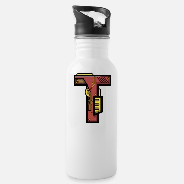 Character Initial letter character robot gift present name T - Water Bottle