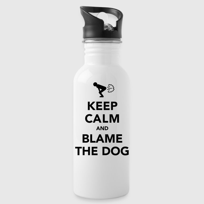 Keep Calm And Blame The Dog (Fart) - Water Bottle