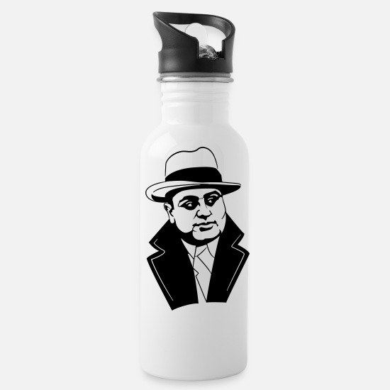 Mafia Mugs & Drinkware - Al Capone 20's Gangster - Water Bottle white