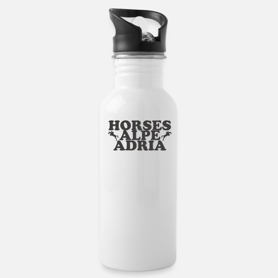 Horse Mugs & Drinkware - Horses Alpe Adria - Water Bottle white