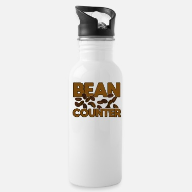 Accountant Banker Funny Design - Bean Counter - Water Bottle