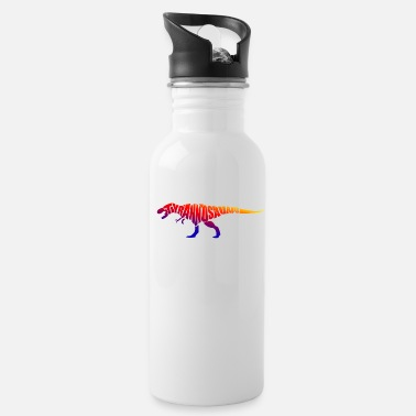 Typography T-Rex Typography - Water Bottle
