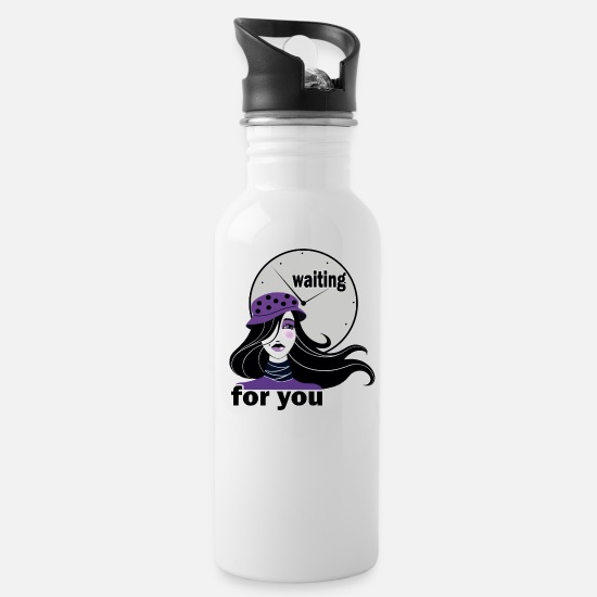 Love Mugs & Drinkware - waiting for you - Water Bottle white