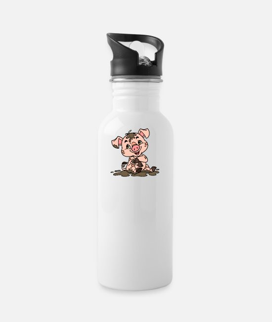 Dirty Little Pig Mugs & Cups - Dirty sow - Water Bottle white