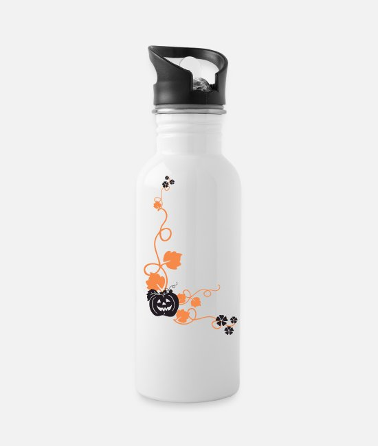 October Mugs & Cups - Happy Halloween - Water Bottle white