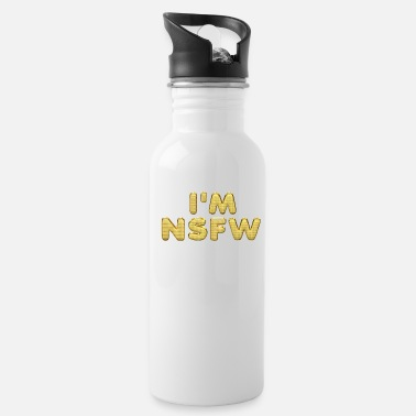 Social I'M NSFW I'm not safe for work Gold Letters - Water Bottle