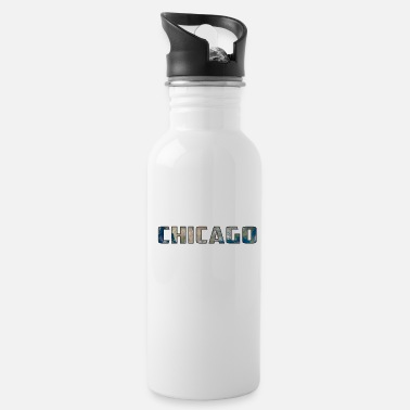 Native Solar System Planet Earth Chicago Gift - Water Bottle