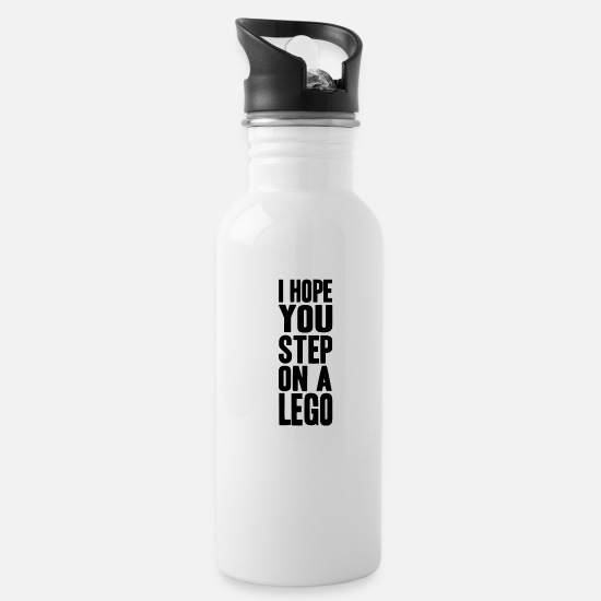 Play Mugs & Drinkware - step on a lego - Water Bottle white