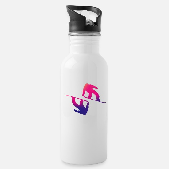 Freestyle Mugs & Drinkware - Snowboarder snowboarding boarder snow - Water Bottle white