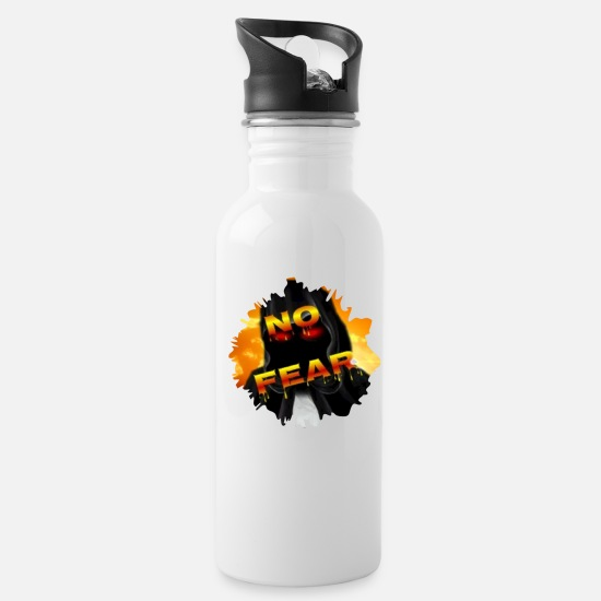 No Mugs & Drinkware - NO FEAR - Water Bottle white