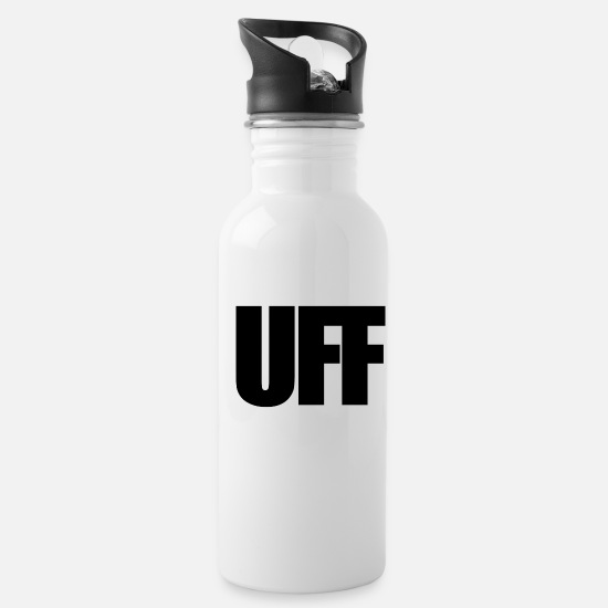 Game Mugs & Drinkware - UFF Schwarz - Water Bottle white