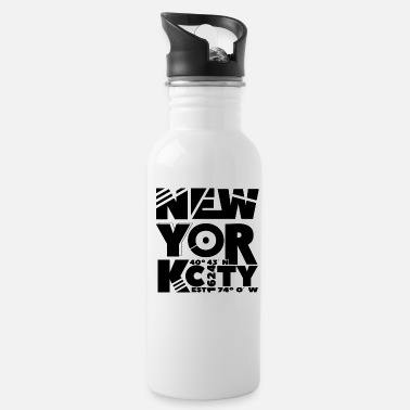 New York City abstract black - Water Bottle