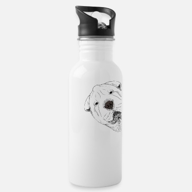 Curious Curious Shar Pei Dog - Water Bottle