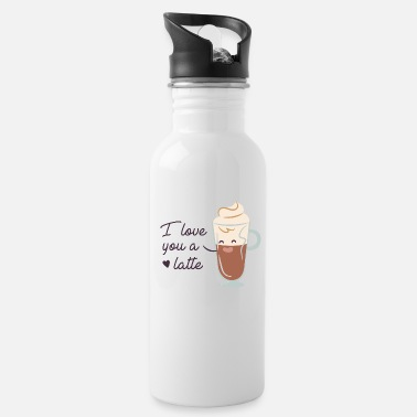 Love You Love You A Latte - Water Bottle
