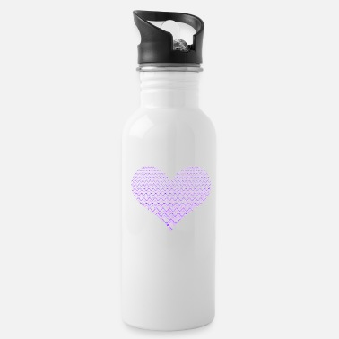 Lilac Lilac frequencies heart - Water Bottle