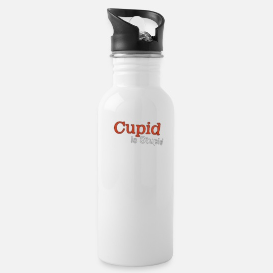Love Mugs & Drinkware - cupid is stupid - Water Bottle white