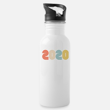 2020 New Years Shirt, Happy New Year T-Shirt - Water Bottle